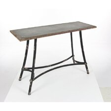 Emilio Metal Console Table by Williston Forge