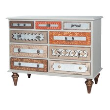 Tabitha Mosaic 9 Drawer Standard Dresser by Bungalow Rose