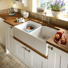 90 cm x 55,5 cm Doppel-Küchenspülbecken Moringa