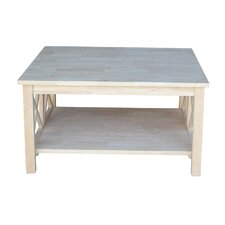 Cosgrave Double X Square Coffee Table by Beachcrest Home