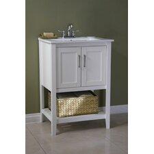 Lambeth 24 Single Bathroom Vanity Set with Basket by Breakwater Bay