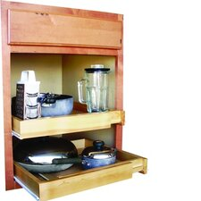 Bamboo Expandable Kitchen Cabinet Pull Out Drawer