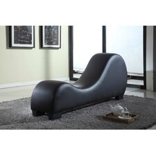 Cristina Faux Leather Stretch Chaise Yoga Chair