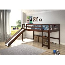 Maribel Mission Twin Low Loft Bed