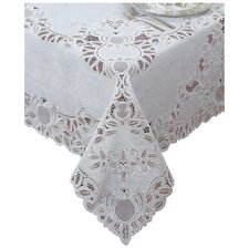 Fenn Crochet Vinyl Lace Rectangle Tablecloth