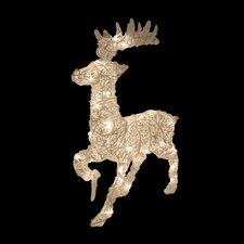 Rattan Trumpeting Reindeer Christmas Decoration