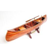 Brown Wood Indian Girl Model Boat