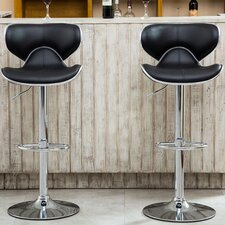 Harlow Adjustable Height Swivel Bar Stool (Set of 2) by Wade Logan®