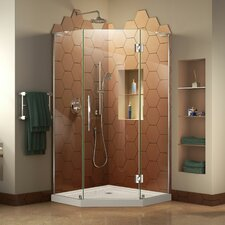 Prism Plus 40 W x 40 D Frameless Hinged Shower Enclosure by DreamLine