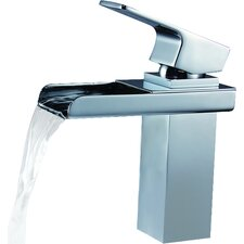 Single Handle Deck Mount Waterfall Bathroom Sink Faucet with Hoses
