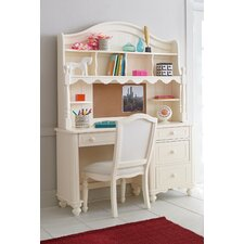 "Otto 48"" W Writing Desk with Hutch and Chair"
