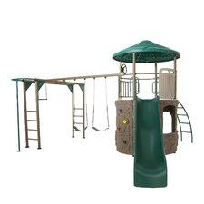 Deluxe Adventure Tower Swing Set