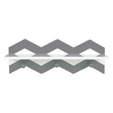 Chevron Wall Accent Shelf