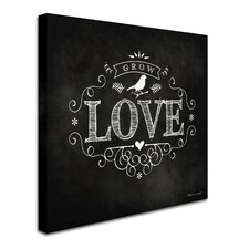 Love' Textual Art on Wrapped Canvas  by Trademark Fine Art
