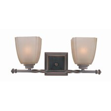 River House 2-Light Champagne Vanity Light