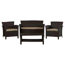 Brassard 4 Piece Seating Group with Cushion by Mercury Row®