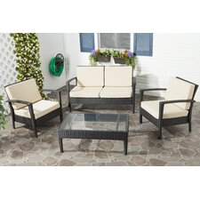 Cade 4 Piece Deep Seating Group Set with Cushion by Mercury Row®