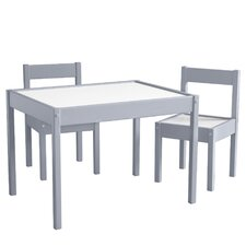 Bethany 3 Piece Rectangular Table and Chair Set