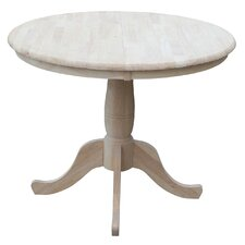 "Overbay Round Pedestal 30"" Extendable Dining Table"