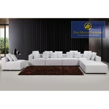 Sykes Leather Modular Sectional