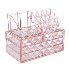 Diamond Pattern Display Cosmetic Organizer