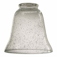 """Clear Seeded 5"""" Glass Bell Pendant Shade"""