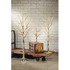 Metal Birch Lighted Tree