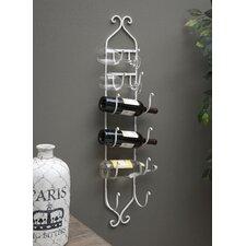 Saxatile 6 Bottle Wall Mounted Wine Rack