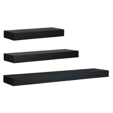 Rectangle 3 Piece Wall Shelf Set