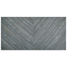 "Akino Deco 12.5"" x 24.625"" Porcelain Field Tile in Marengo"