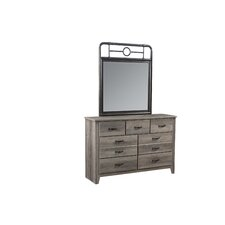 Brandan 7 Drawer Dresser with Mirror by Viv + Rae
