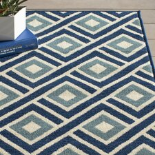 Wexler Blue Indoor/Outdoor Area Rug