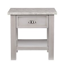 Bellmara Faux Marble Square End Table by Darby Home Co®