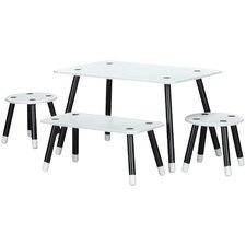 Rowan Valley Clover Kids 4 Piece Rectangular Table and Chair Set