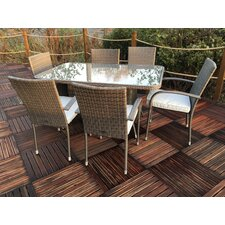Marlow Stackable 6 Seater Dining Set with Cushions