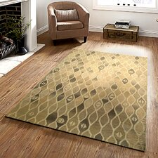 Ostro Hand-crafted Brown Area Rug