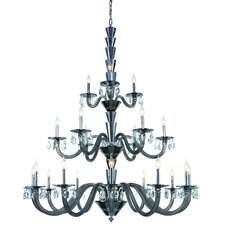 Augusta 21-Light Candle-Style Chandelier