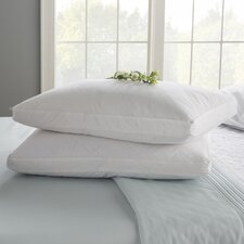 Double Quilted Goose Feather Standard Pillow (Set of 2)