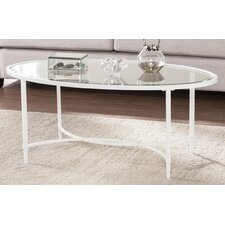 Lincoln Metal/Glass Oval Coffee Table by Winston Porter