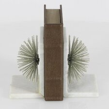 Metal Marble Bookends
