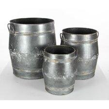 Durable Metal 3 Piece Pot Planter Set