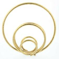 Gold Metal Ring Sculpture