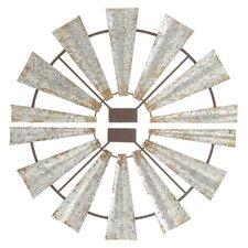 2 Piece Windmill Plaque Wall Décor Set