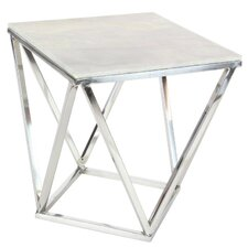 Eris Marble Square End Table