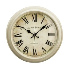 Baume 36cm Round Wood Wall Clock