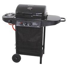 Mastercook 3-Burner Portable Liquid Propane Barbecue Grill with Side Shelf