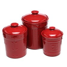Genesee 3 Piece Kitchen Canister Set