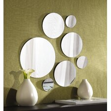 7 Piece Round Glass Mirror Set