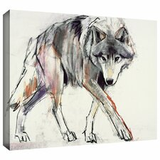 'Wolf' Painting Print on Wrapped Canvas