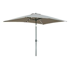6.5' x 10' Destefano Rectangular Illuminated Umbrella